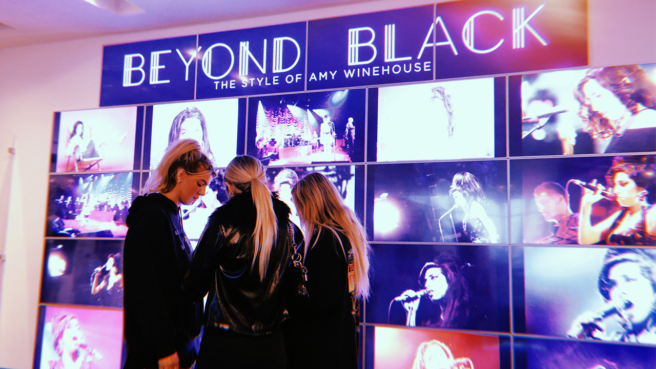 Visual Communications Students Tour Beyond Black The Style of Amy Winehouse at GRAMMY Museum
