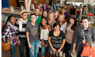 Nick Verreos and guests at the FIDM Scholarship Stores Fabric Party.