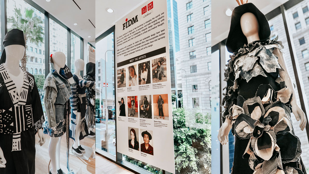 FIDM Students Create Denim Displays For Uniqlo's New DTLA Store