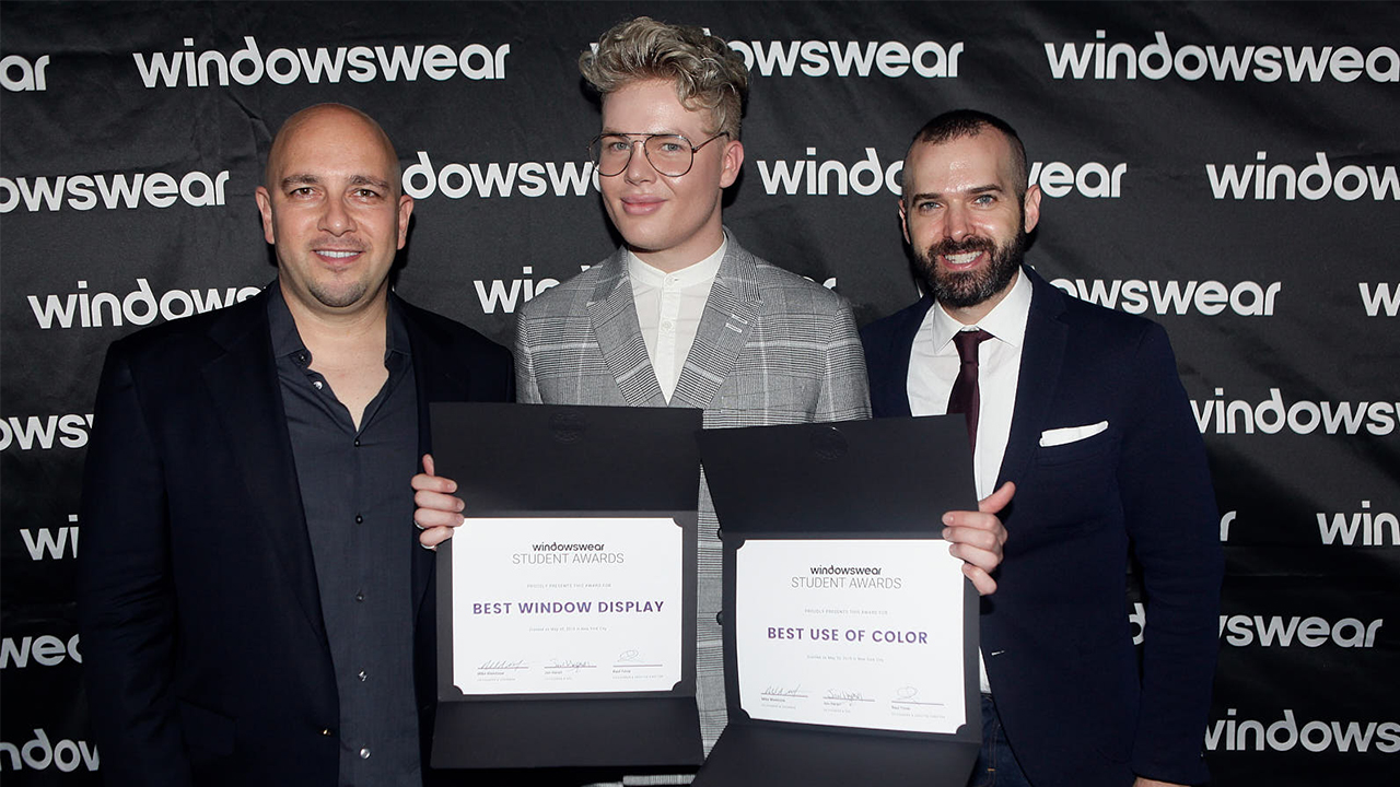 Visual Communications Student Windows Win Awards in NYC