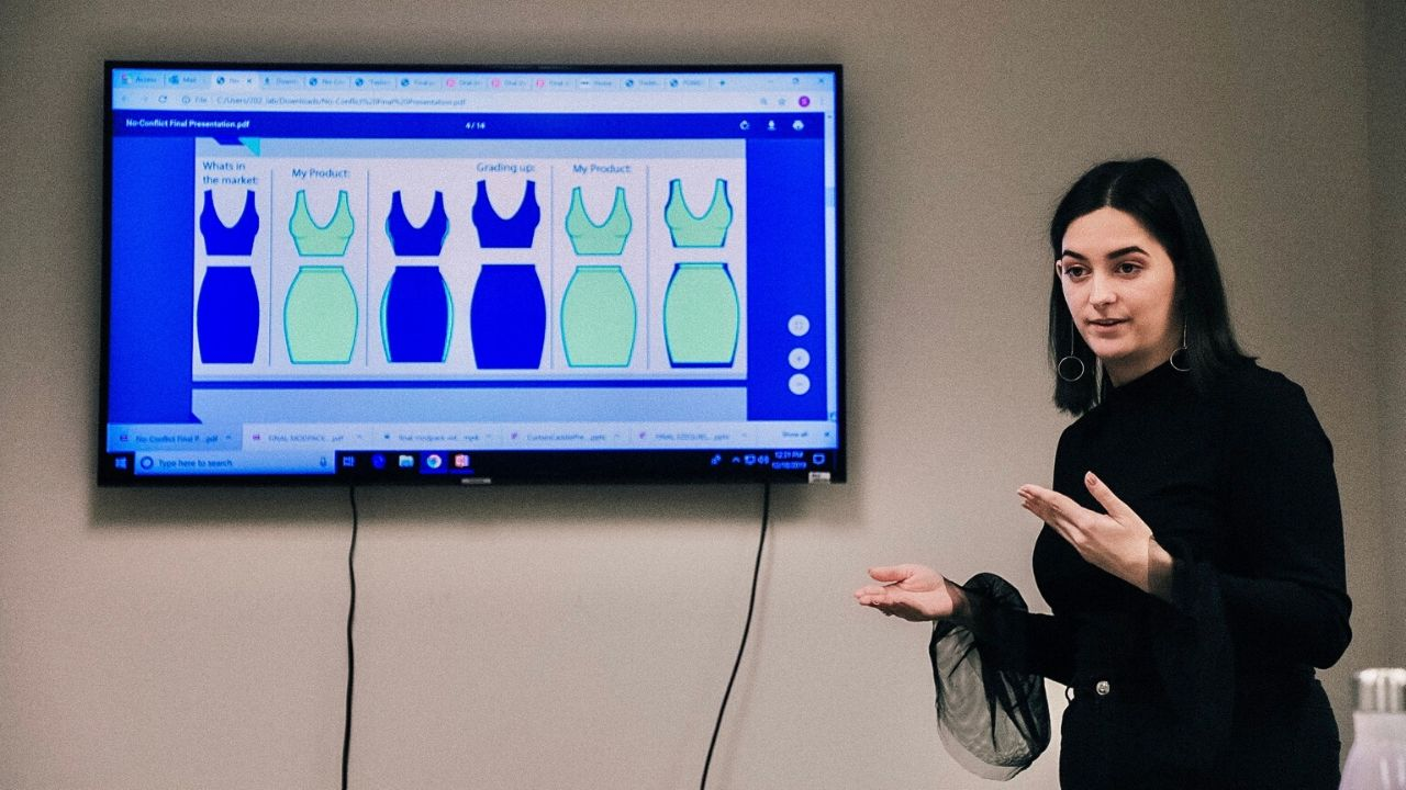 Students in Apparel Technical Design Bachelor's Program Present Product Concepts for Design Thinking Class