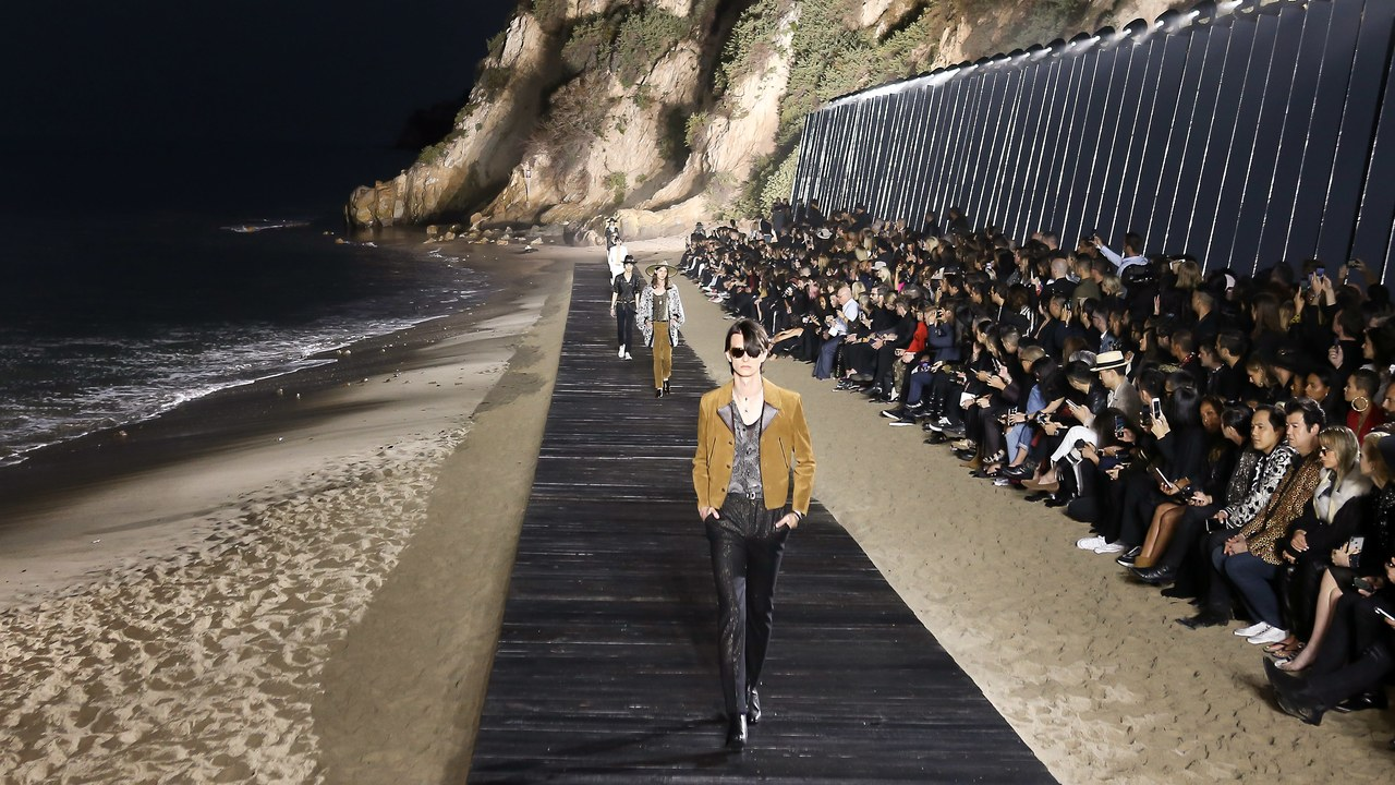 Saint Laurent Hosts Menswear Show in Malibu