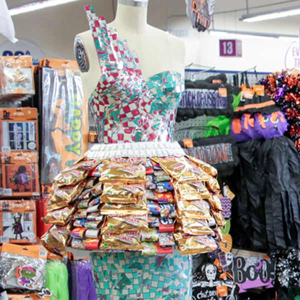 99 Cents Only Store in West LA Displays FIDM Students' High Fashion Designs From Store Items