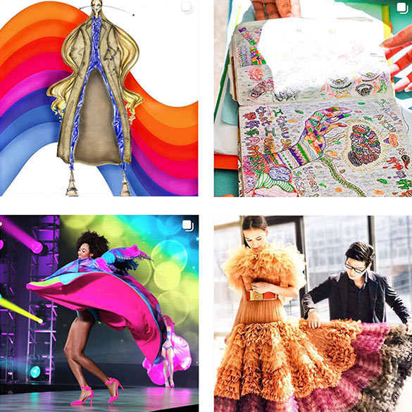 Collage of various fashion and design images