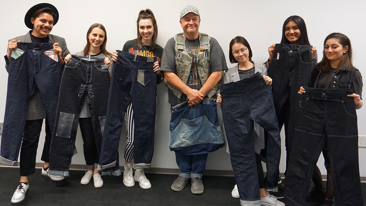 Students Present Levi's 501 Remastered Designs to Vintage Denim Guru Eric Schrader