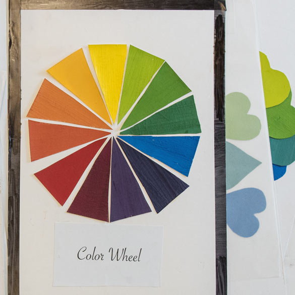 A collage color wheel study