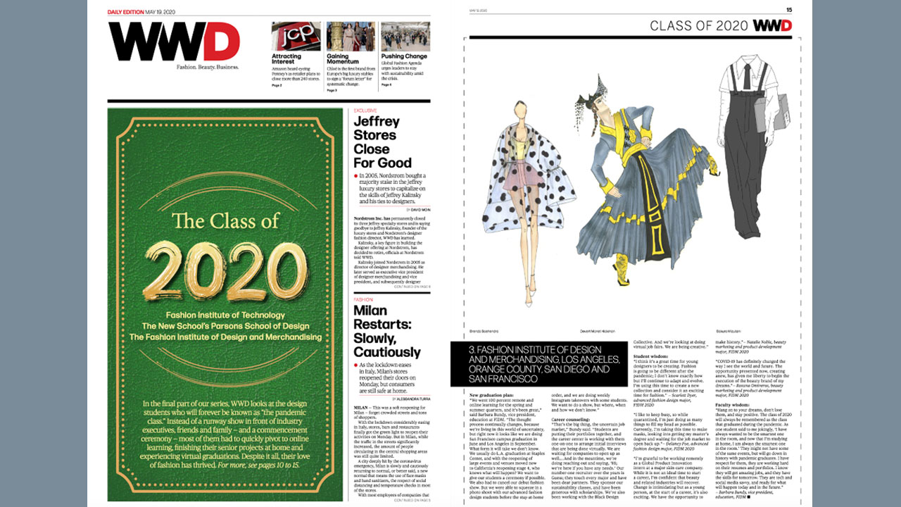 FIDM Featured in Women's Wear Daily Cover Story