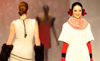 Fashion Knitwear Design by Advanced Study Fashion Design graduate Adelle Burda at the DEBUT Runway Show.
