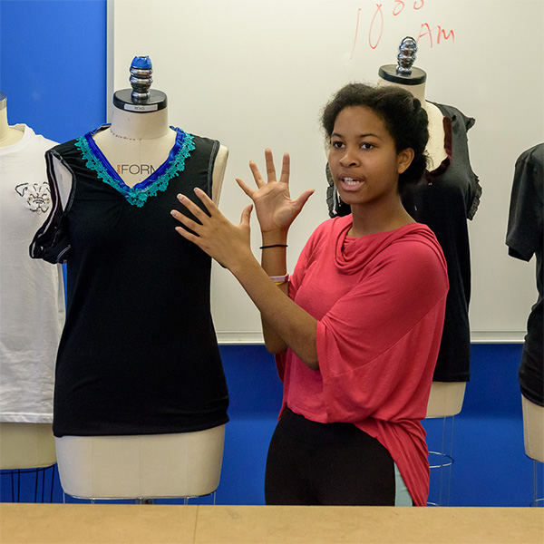 B.S. Apparel Technical Design Students Challenged with Real-Life Work Scenario for Final Exam