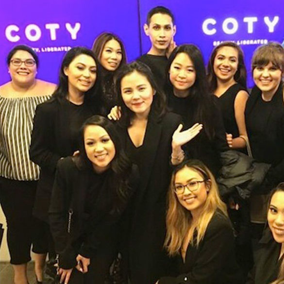 Students Present To Coty's VP Creative Director in NY