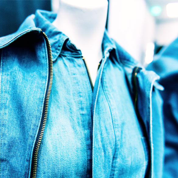 Jean jackets closeup