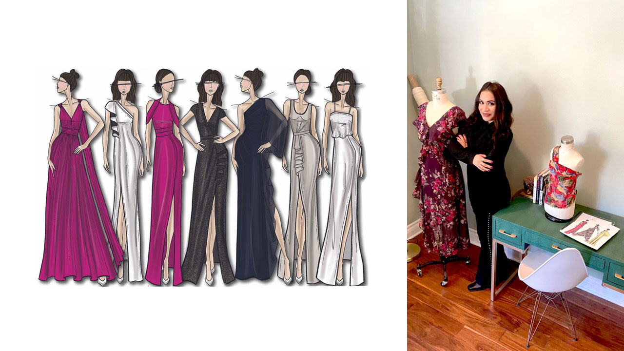 Grad is Dress Designer for Halston Heritage