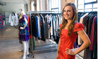 FIDM Grad Andrea Hamilton owns the fashion showroom Agent Icon in Downtown Los Angeles.